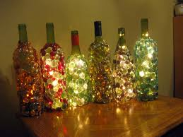 Making Wine Bottle Lights Glass Gem Embellished Lighted Wine Bottles Night Light Or Mood