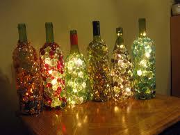 Making Wine Bottle Lights Glass Gem Embellished Lighted Wine Bottles Night Light Or Mood