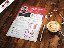 Clean And Sharp Resume Cv Template Free Psd Free Psd Ui Download