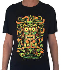 Black Light T Shirts Clothing Us 6 99 Idol Mens T Shirt Glow Uv Blacklight Neon Psychedelic Art Goa Festival Trance In T Shirts From Mens Clothing On Aliexpress