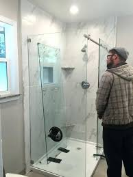 exciting frameless shower door problems amazing semi