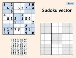 Symmetrical Sudoku With Answers Vector Set Sudoku Blank Template