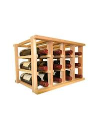 Small wine racks Wood Product Sale Wine Cellar Innovations Mini Stack Wine Rack For 12 Bottles Unstained