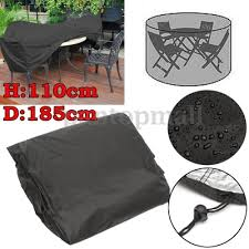 110x185cm outdoor round garden furniture cover rain dust protector water proof for 4 seater table