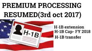 H1b Premium Processing Resume 2017 Premium processing Resumed for all H100B YouTube 1