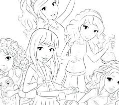 Coloring Pages Of Girl Best Friends Coloring Pages Girl And New For
