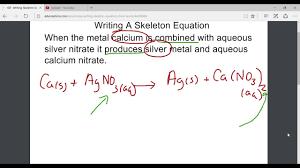 writing a skeleton equation