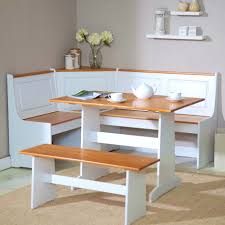 leather breakfast nook furniture. Surprising Breakfast Nook Furniture Ideas 7 Small Design With Rectangular Pedestal Oak Dining Table White Storage Bench Drawer And Brown Leather Seat Back