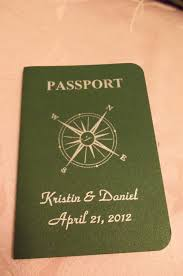 my diy passport save the dates diy forum passport invitation front close