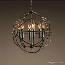 rh lighting restoration hardware vintage pendant lamp foucault s iron orb chandelier rustic iron rh loft light globe style 65cm 80cm 103cm canada 2018 from