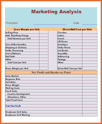 industry analysis template market analysis template bid proposal example
