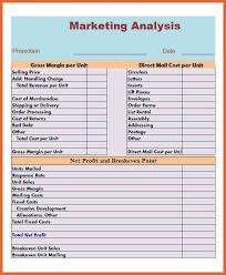 industry analysis template market analysis template bid proposal example
