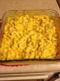 Macaroni is combined with canned cheese soup, topped with shredded colby cheese and baked. Pin On Recipes