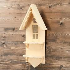 unfinished wooden wall shelves wood house shelf birdhouses and houses unfinished wooden