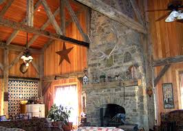 timber frame stone fireplace log cabins