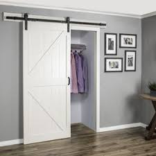 reliabilt off white k frame soft close barn door mon 36 in x 84 in actual 36 in x 84 in at lowes