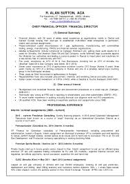 Private Equity Resume Extraordinary SUTTONRAlan CV General