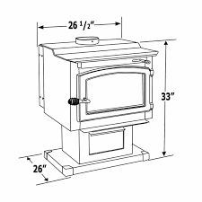 vogelzang performer wood burning stove with blower tr009 Stove Diagram diagram with measurements of wood stove stove parts diagram