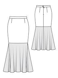 Mermaid Skirt Pattern Best Mermaid Skirt Plus Size 4848 48 Sewing Patterns