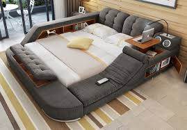 massage chair bed. the ultimate bed with integrated massage chair, speakers, and desk chair odditymall