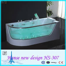 glass y acrylic clawfoot bathtub with chromotherapy function jacuzzi function hs 307