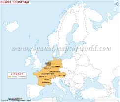 Conheça os países pertencentes em cada área e leia ainda algumas curiosidades sobre esse continente. Mapa De Europa Occidental Mapa Europa Occidental