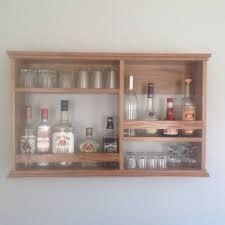 mini bar liquor cabinet wall mount