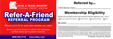 The more people you refer, the more you can earn. Referral Program Hotel Travel Industry Federal Credit Union