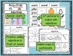 Adjectives Chart Pdf Adjective Bundle School Stuff Anchor Charts Writing