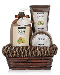 deluxe spa gift basket best birthday gift thank you gift for women pure bath