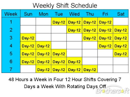 10 Hour Shift Schedule Templates 12 Hour Shift Schedule Template Excel Printable Schedule