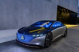 It isn't obvious that this concept car is a green car. Mercedes Benz Vision Eqs Concept Points To A Fun Future