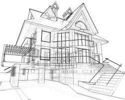 House Technical Draw Stock Photo Landscape Architecture
