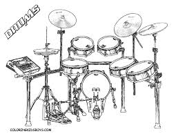 Drum Kit Coloring Page