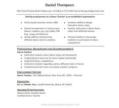 Dance Resumes Template Dancers Cv Template Gopitch Co Dancer Throughout Dance Resume In 13