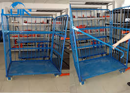 Powder Coating Racks Suppliers Three Side Powder Coated Warehouse Storage Racks Folding Pallet 11