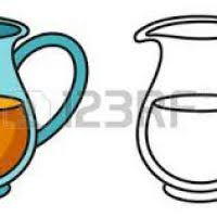 jug clipart black and white. clipart source · water jug illustration of isolated colorful and black white for coloring book