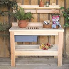 Potting Benches Wooden Potting Bench Garden Table Made In Usa Fastfurnishingscom