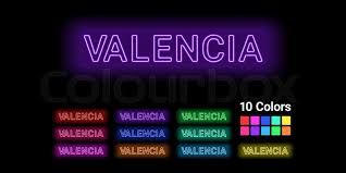 Learn about the baby name valencia including baby name meaning, gender, origin, and more. Neon Name Of Valencia City Vector Stock Vector Colourbox