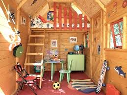 Plain Kids Tree House Interior Playhouse Plans With Loft No Frills Here And For Design Inspiration
