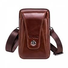 senarai harga womdee belt clip holster vertical premium soft genuine leather cellphone pouch holder carrying case large capacity waist bag terbaru di
