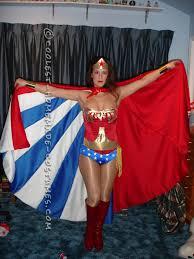 Beautiful Beautiful Homemade Wonder Woman Costume... Coolest Halloween Costume Contest