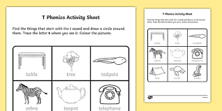 Students look at the pictures and circle the correct word. T Phonics Worksheet Worksheet Irish Worksheet