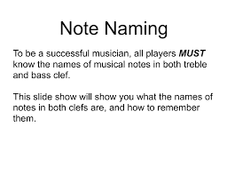 From here we can figure out the other note names simply by going forward or backward through the musical alphabet: Note Naming In Treble And Bass Clef File