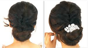 Hairstyle For Long Hairstyle  5min easiest party updo everyday braided bun prom hairstyles 8049 by stevesalt.us