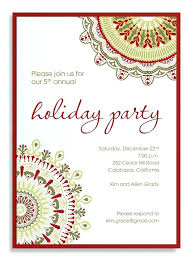 Christmas Eve Dinner Invitation Wording Company Holiday Party