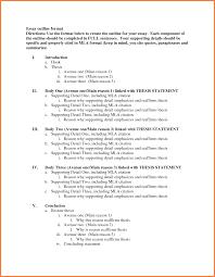 6 Standard Outline Format Leave Latter