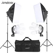 Photo Studio Lighting Kit Ebay Us 80 76 42 Off Only Sale To Russian Andoer Photo Studio Lighting Light Kit With Softbox 4in1 Bulb Socket 45w Bulb Light Stand Carrying Bag In Photo