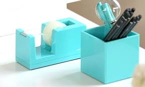colorful office accessories. Contemporary Office Aqua Tape Dispenser And Pen Holder Colorful Desk Accessories Set Office  Three Styles On Colorful Office Accessories