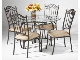 glass top tables and chairs. Black Wrought Iron Table And Chair Sets   48\ Glass Top Tables Chairs